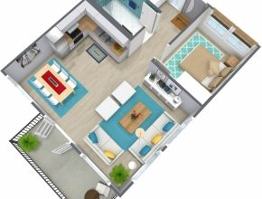 Amazing 1 Bedroom Apartment Floor Plan | Roomsketcher 1 Bedroom Apartment Floor Plans Pic