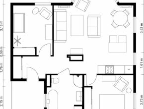 Amazing 2 Bedroom Floor Plans | Roomsketcher Floor Plans 2 Bedroom Image