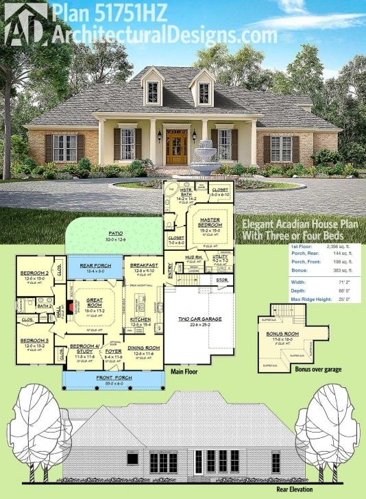 Amazing Architectural Designs Acadian Style House Plan 51751Hz Has A Brick Acadian Style House Plans Picture