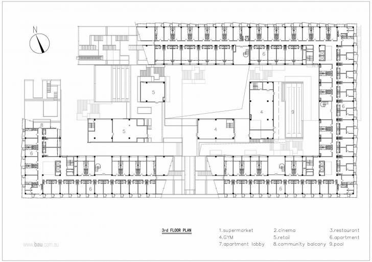 Amazing Gallery Of Hangzhou Duolan Commercial Complex / Bau Brearley Commercial Complex Floor Plan Photo