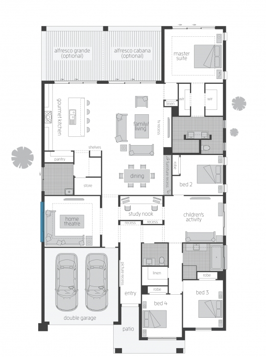 Amazing Miami - Floorplans | Mcdonald Jones Homes Homes Floor Plans Image