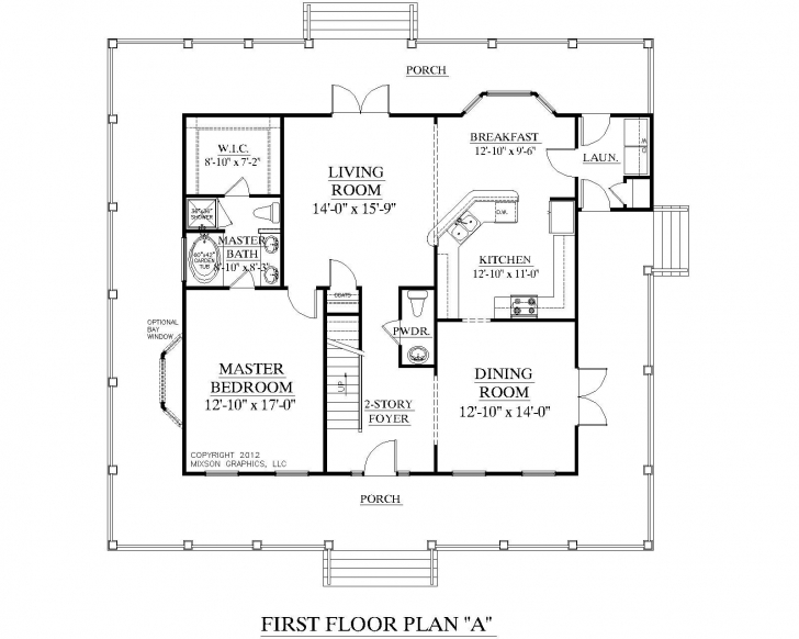 Amazing Small One Bedroom House Plans | Traditional 1-1/2-Story House Plan One Floor House Plans Photo