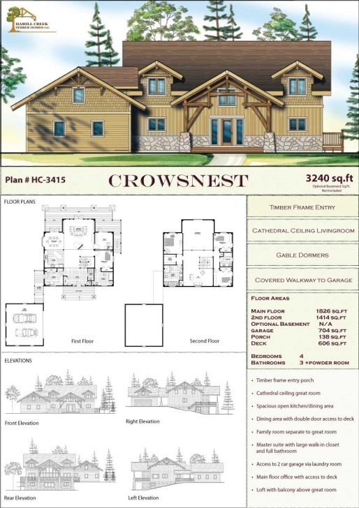 Amazing Timber Frame Home Plans & Designs By Hamill Creek Timber Homes Timber Frame Floor Plans Image