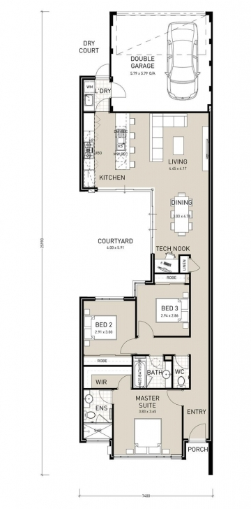 Astonishing Bildergebnis Für 2 Storey Narrow House Plans | House Plans Narrow House Plans Pic