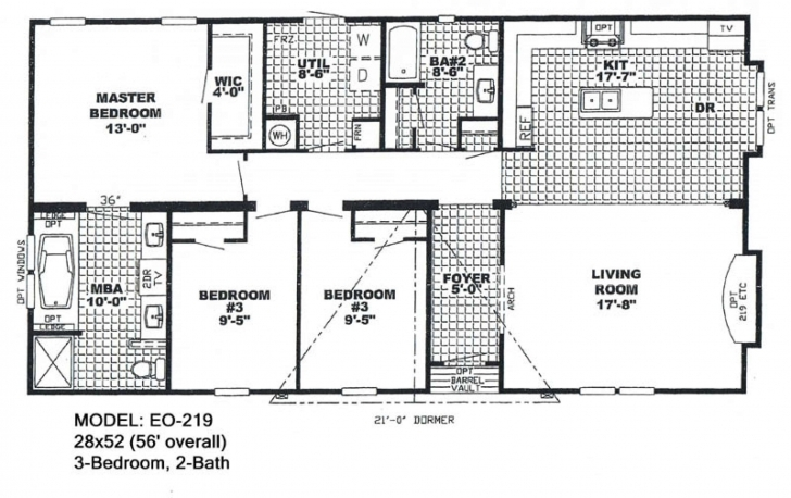 Astonishing Double Wide Mobile Home Floor Plans Also 4 Bedroom Double Wide Trailer Floor Plans Pic