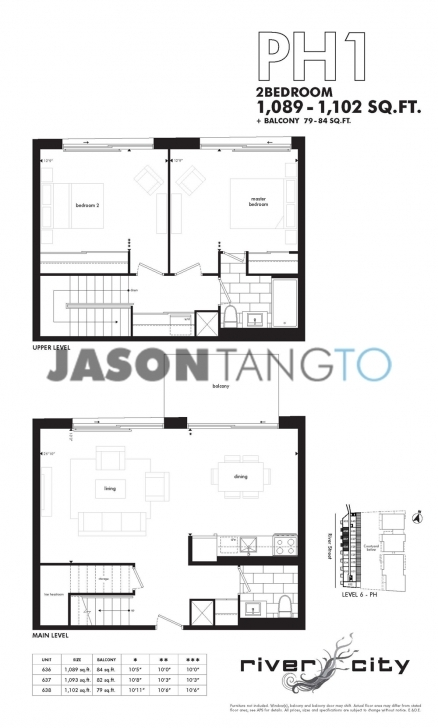 Astonishing River City 47 Lower River 51 Trolley - Toronto Condos Lofts River City Floor Plans Photo