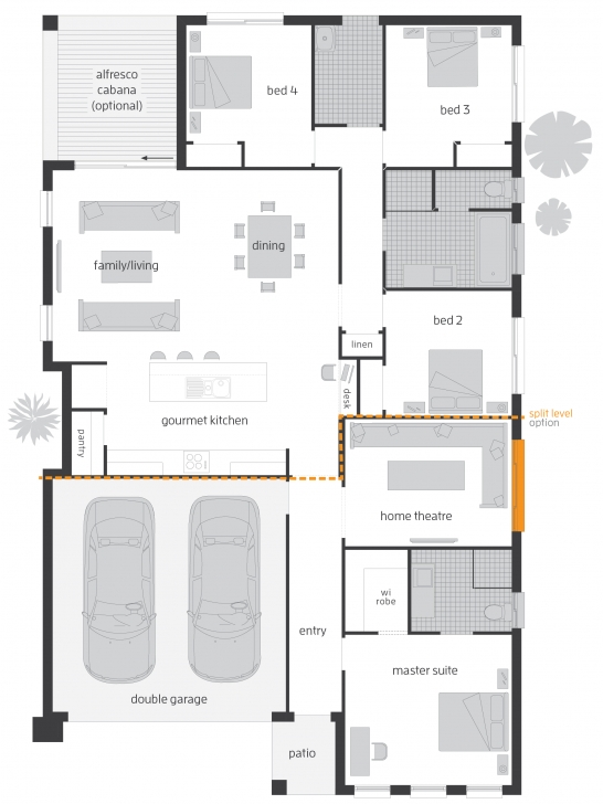 Astonishing Sierra - Floorplans | Mcdonald Jones Homes Homes Floor Plans Photo