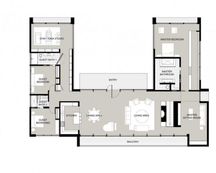 Astonishing U-Shaped House Plans With Courtyard … | Houses In 2018… U Shaped House Plans Picture