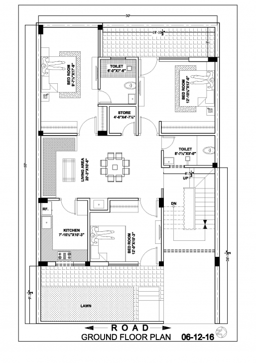 Awesome 30×50 House Map Floor Plan – Ghar Banavo 30x50 House Floor Plans Picture