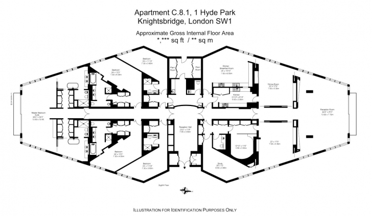 Awesome A 5 Bedroom Penthouse At London's Most Prestigious Address, One Hyde Hyde Park Floor Plan Image
