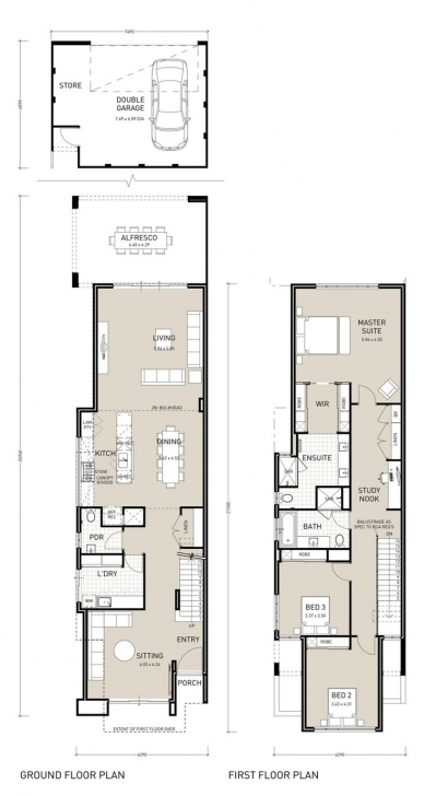 Awesome Best 25 Narrow House Plans Ideas On Pinterest Narrow, Two-Story Narrow House Plans Photo