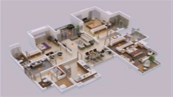 Awesome Floor Plan 6 Bedroom House - Youtube 6 Bedroom House Plans Image