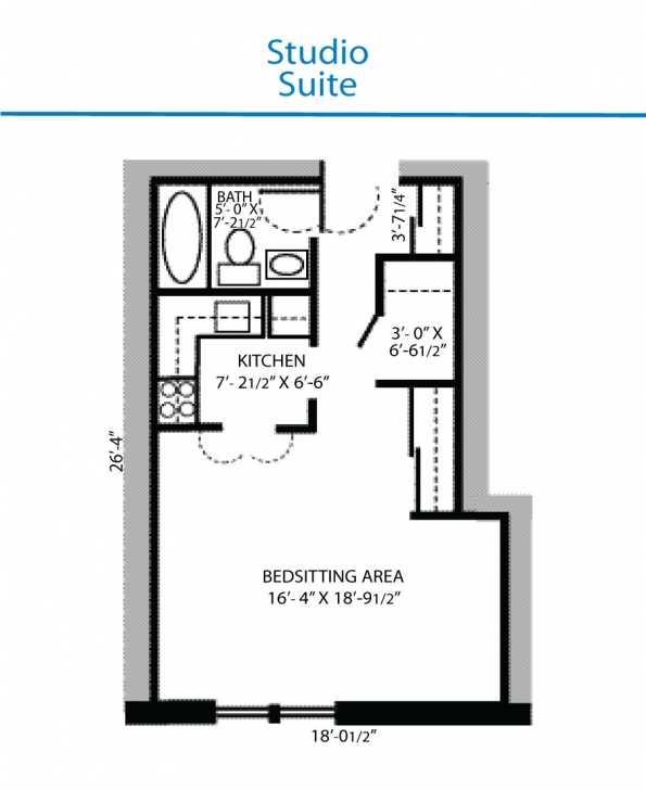 Awesome Floor Plan Of Studio Suite | Quinte Living Centre Studio Floor Plan Picture