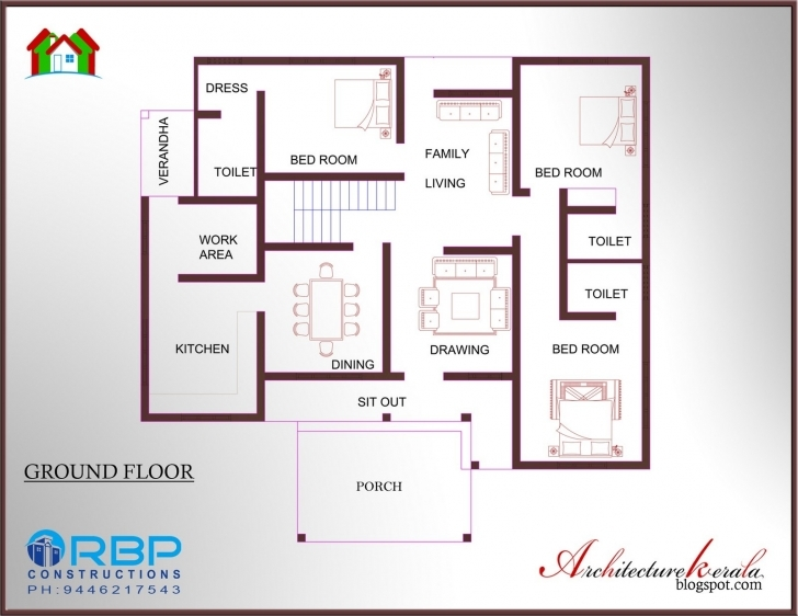 Awesome House Plans Kerala 5 Cents Lovely 3 Bedroom Home Plans Kerala Floor Floor Plans Kerala Style Houses Photo