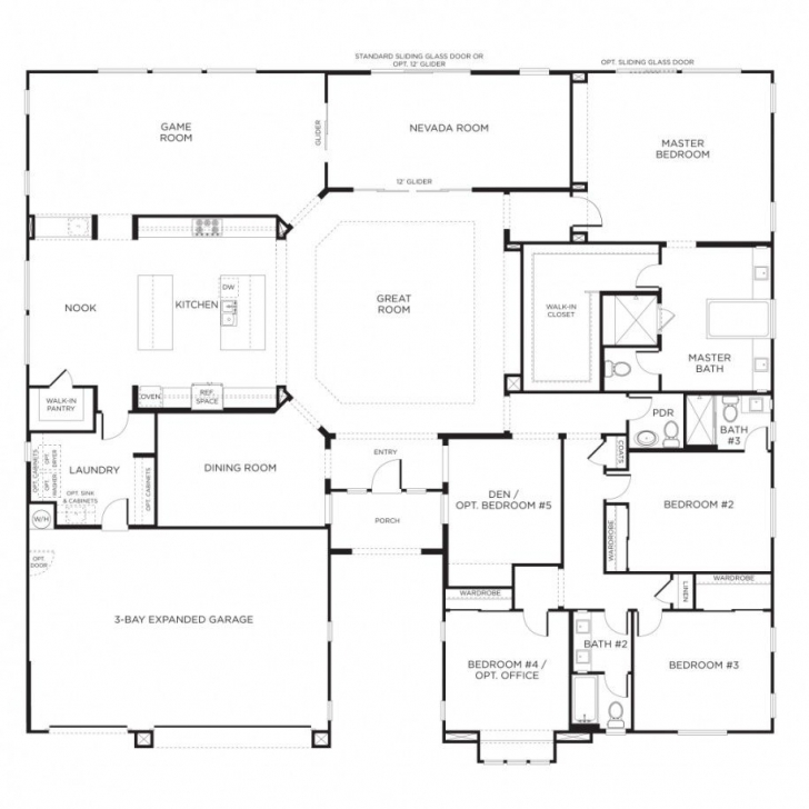 Awesome Nice Home Designs : Single Story Floor Plans One Story House Plans House Plans One Story Picture