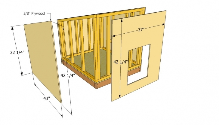 Awesome Simple Diy Dog House Plans | Dog House Plans | Favorite Places Large Dog House Plans Image