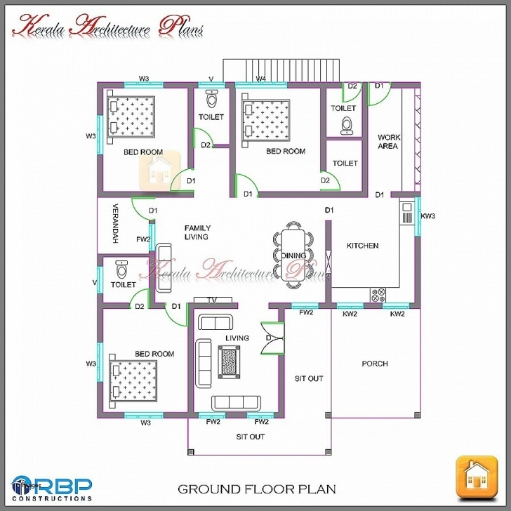 Awesome Single Floor 4 Bedroom House Plans Kerala Unique New House Plans New Single Floor 4 Bedroom House Plans Kerala Image