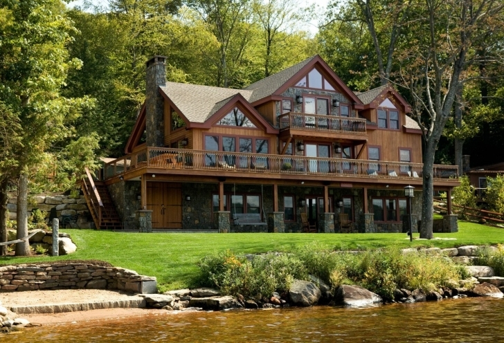 Best 24 Luxury Lake House Plans With Walkout Basement | Robobrawl Lakefront House Plans Pic