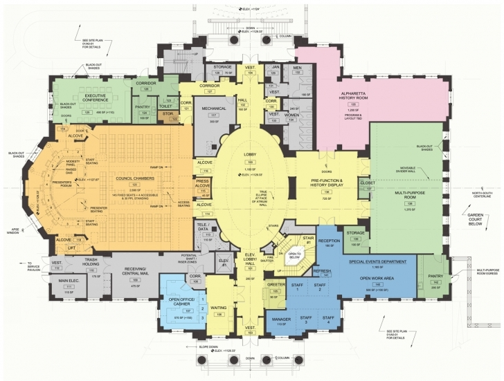Best Alpharetta City Hall Opens As Centerpiece Of New Development | Parchment City Hall Floor Plan Image