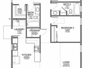 Best Floor Plan For A Small House 1,150 Sf With 3 Bedrooms And 2 Baths 3 Bed 2 Bath Floor Plans Photo