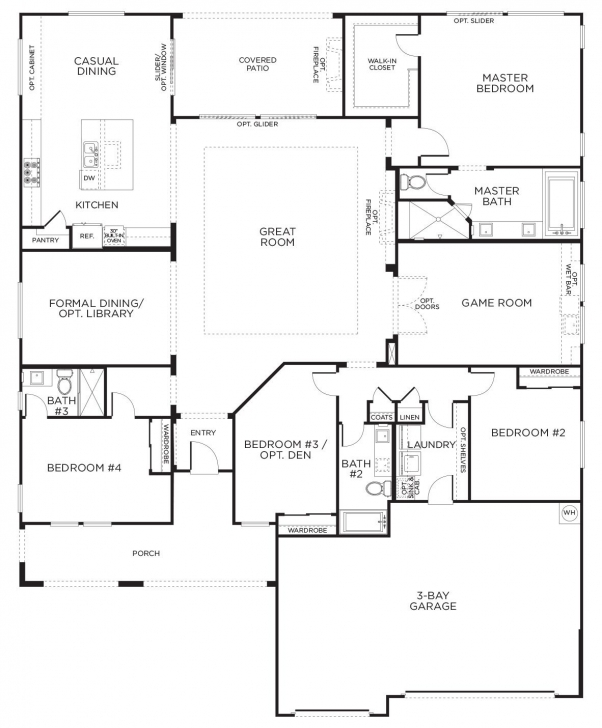 Best Love This Layout With Extra Rooms. Single Story Floor Plans | One House Plans One Story Picture