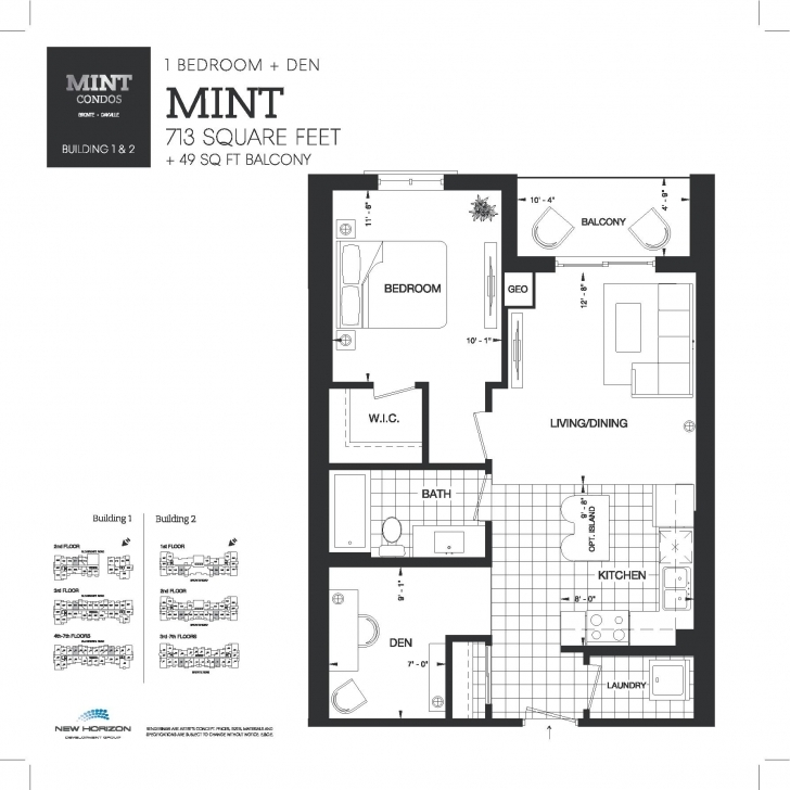 Best Mint Condos By New Horizon Homes In Bronte Village Mint Floor Plans Photo