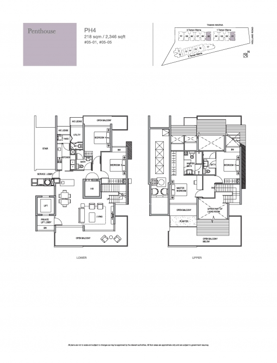 Best Penthouse-4 Bed - Holland Residences Holland Residences Floor Plan Picture