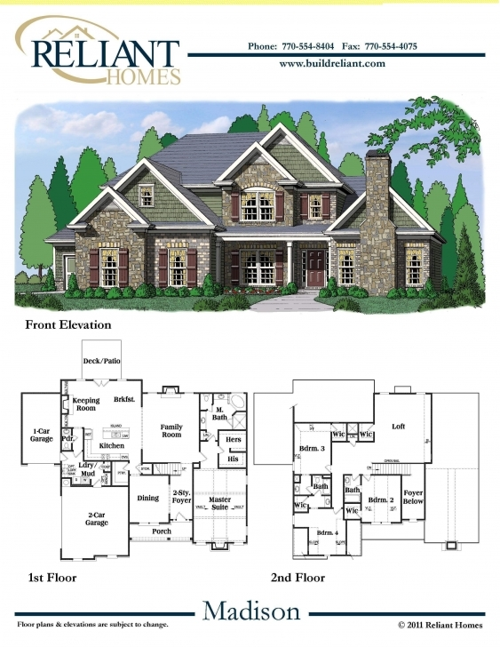 Best Reliant Homes | The Madison Plan | Floor Plans | Homes | Homes For House Plans For Sale Picture