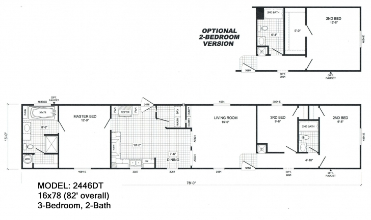 Best Scotbilt Mobile Home Floor Plans Singelwide | 16 X 84 3 Br, 2Ba Mobile Home Floor Plans Pic