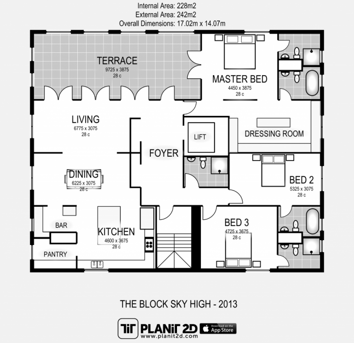 Best The Block Sky High Apartment Floor Plan. - Elements At Home The Block Floor Plans Picture