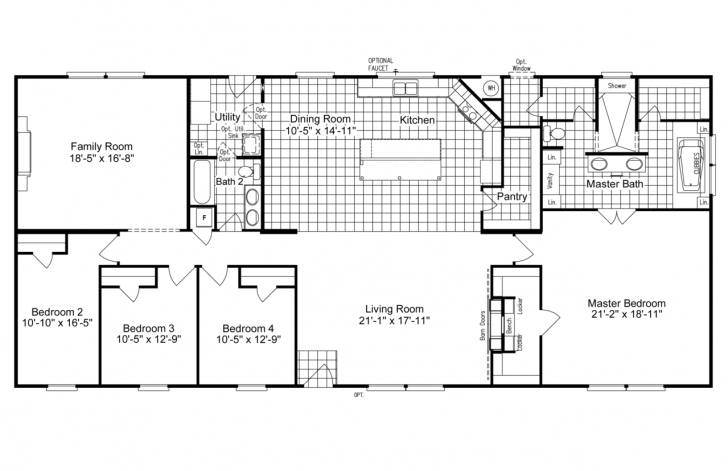 Best The Magnum Home 76 Ml34764M Ml30764M Manufactured Home Floor Plan Or Double Wide Mobile Home Floor Plans Image