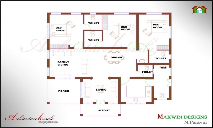 Brilliant 24 Lovely Single Floor 4 Bedroom House Plans Kerala | Rulife Single Floor 4 Bedroom House Plans Kerala Pic
