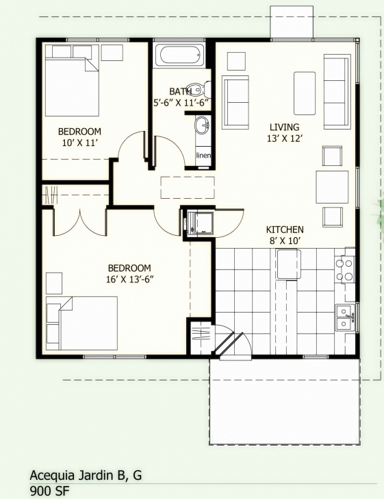 Brilliant 700 Sq Ft House Plans 2 Bedroom Inspirational 700 Sq Ft Home Plans Square House Plans Image