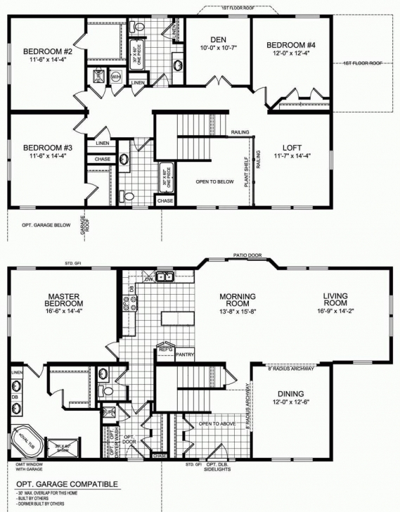 Brilliant 8 Luxury 5 Bedroom 2 Bathroom House Plan Floor Plan : Five Bedroom 5 Bedroom House Floor Plans Image