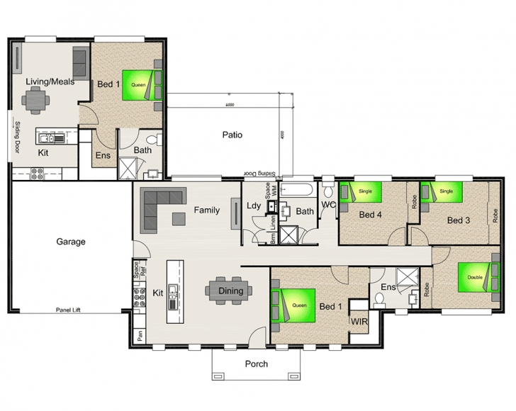 Brilliant Attached Granny Flats | Stroud Homes Dual Living Floor Plans Photo