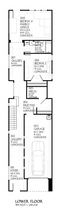 Brilliant Designs For Narrow Lots - Time To Build Narrow House Plans Image