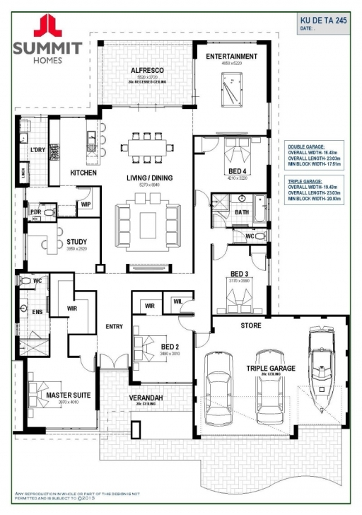 Brilliant Floor Plan Friday: Open Living With Triple Garage Garage House Plans Pic