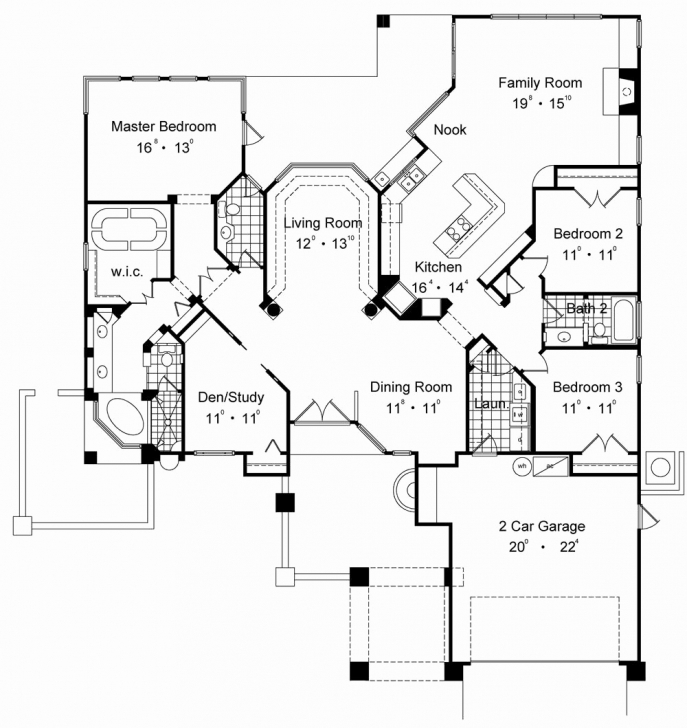 Brilliant One Floor House Plans With Two Master Suites Unique House Plan 2 2 Bedroom House Plans With 2 Master Suites Image