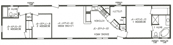 Brilliant Single Wide Mobile Home Floor Plans - Cavareno Home Improvment Single Wide Mobile Home Floor Plans And Pictures Image