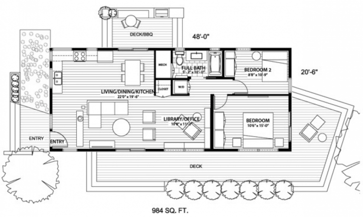 Brilliant Tiny House On Wheels Floor Plans With No Loft | Piante_Abitazioni Tiny House On Wheels Floor Plans Pic
