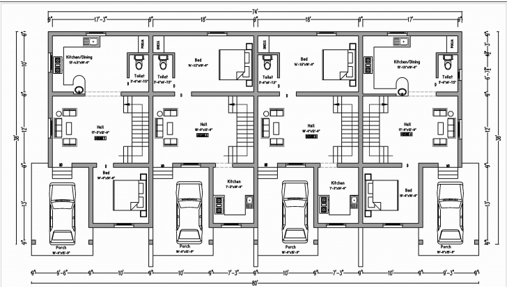 Classy 37 Beautiful Duplex Floor Plans With Garage Home Idea Small Fresh Duplex Row House Floor Plans Pic