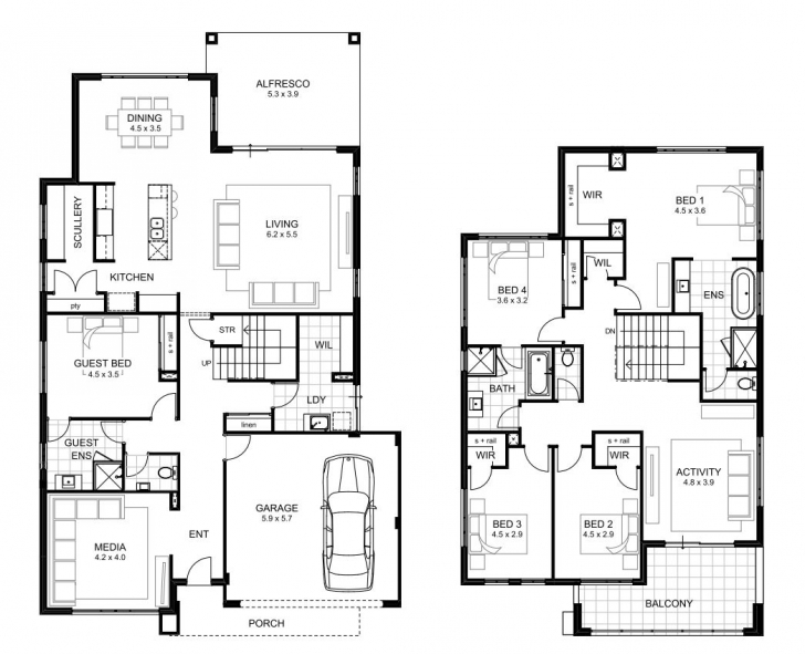 Classy 5 Bedroom House Designs Perth | Single And Double Storey | Apg Homes 5 Bedroom House Floor Plans Picture