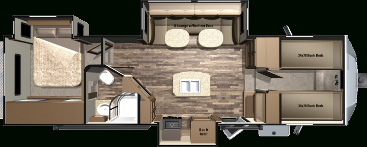Classy 5Th Wheel Camper Floor Plans With 2016 Light Fifth Wheels By Fifth Wheel Rv Floor Plans Pic