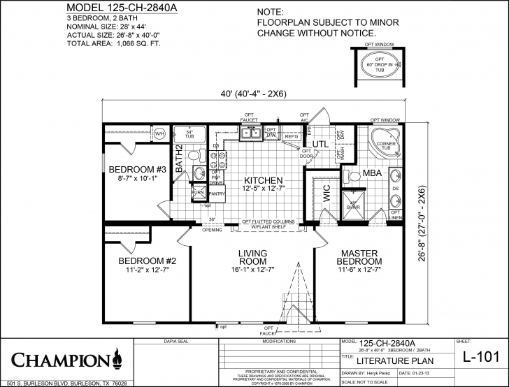 Classy Champion Homes Floor Plans, Champion Modular Home Floor Plan - Zeens Champion Homes Floor Plans Pic