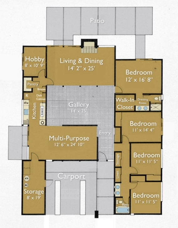 Classy Floor Plan Of An Eichler Home. | Architecture - Home Plans Eichler House Plans Pic