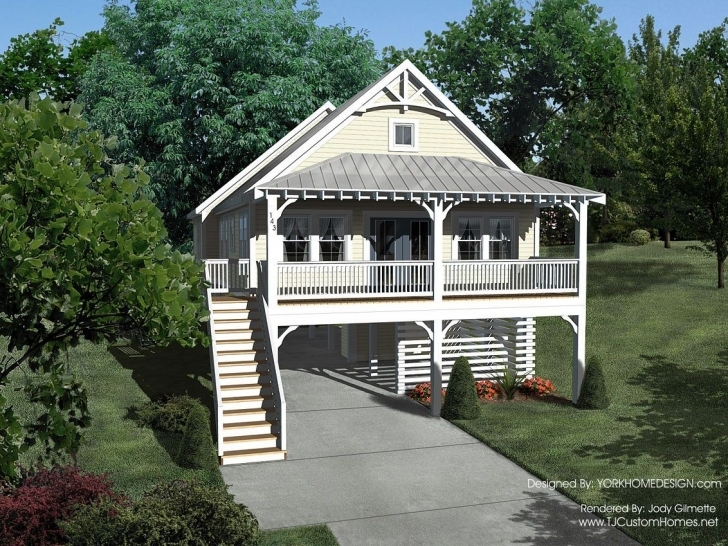 Classy House Plans On Stilts Lovely Waterfront Out Of Bank Foreclosure Key House Plans On Stilts Pic