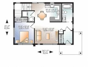 Classy Modern House Plan 76461   Total Living Area: 924 Sq. Ft., 2 Bedrooms Sims House Plans Photo