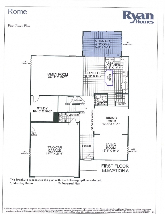 Rome Floor Plan Ryan Homes - House