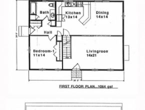 Classy Saltbox House Plan 94007 | Total Living Area: 1900 Sq. Ft., 4 Saltbox House Plans Picture