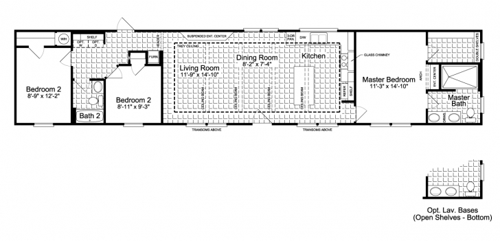 Classy The Santa Fe Ff16763G Manufactured Home Floor Plan Or Modular Floor Mobile Home Floor Plans Pic